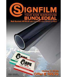 Bundle Deal Suntek HP15 51 cm + Ape duo Green & Red