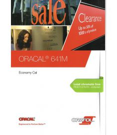 Oracal 641 Black-White Transparent 126cm
