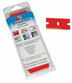 Plastic Razor Blades eenheid 100 st./box mesbreedte 2,5cm