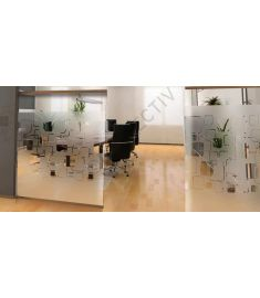 Reflectiv INT 468 Frosted Squares Width 152cm