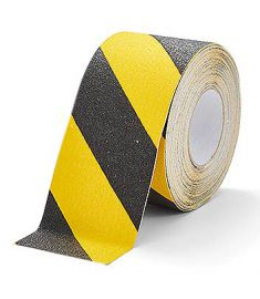 Floor Marking tape black/yellow 25mm x 18.3m
