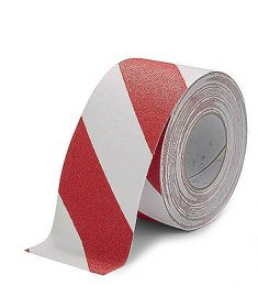 Floor Marking tape red/white 50mm x 18.3m